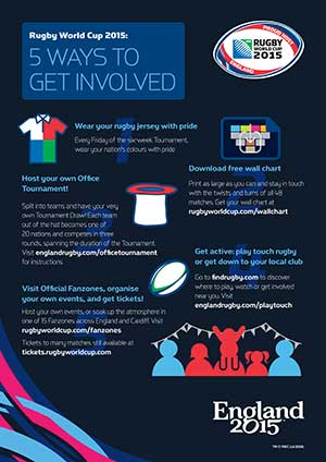 Get Involved in RWC 2015 Poster