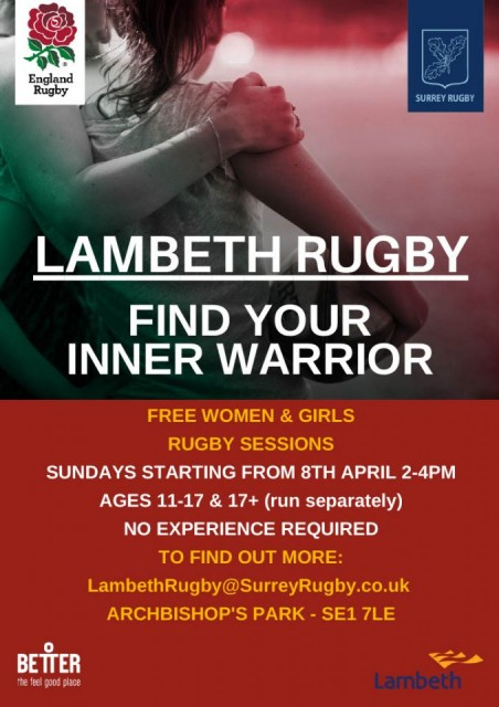 Women's and Girls Rugby arrives in Lambeth