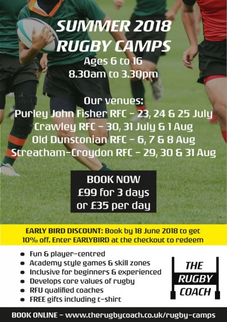 Summer Rugby Camps - The Rugby Coach