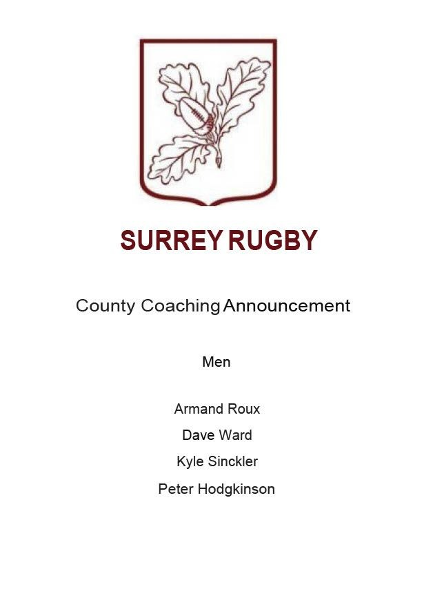 Coaching Announcement: 1st XV
