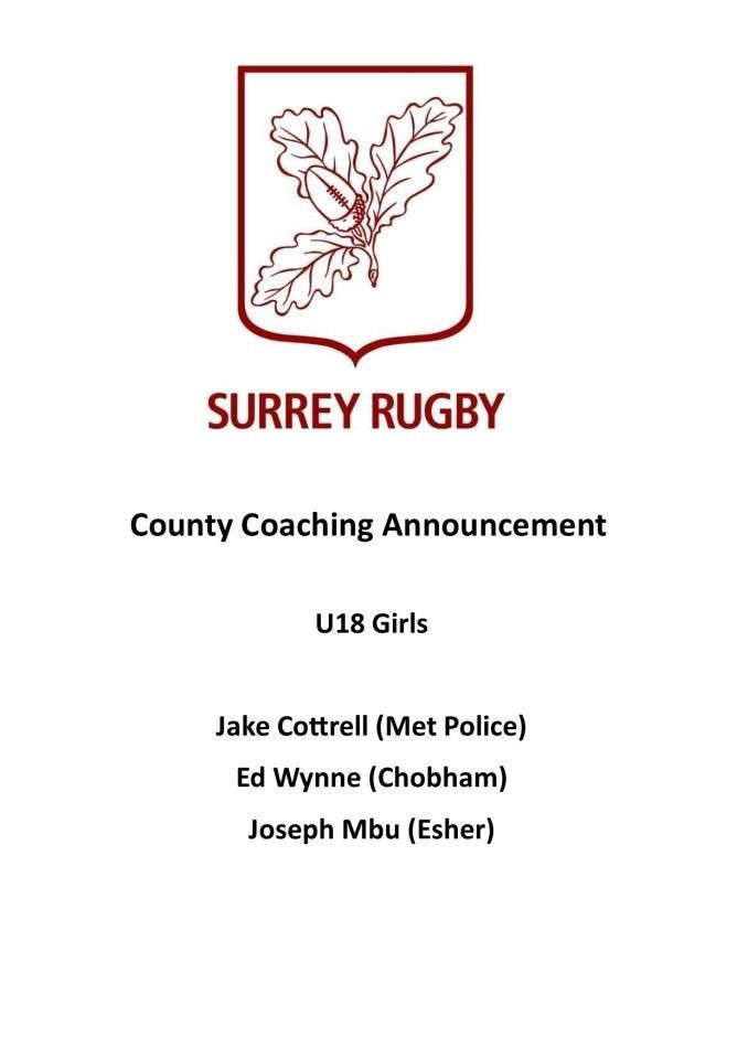 Coaching Announcement: Under U18 Girls
