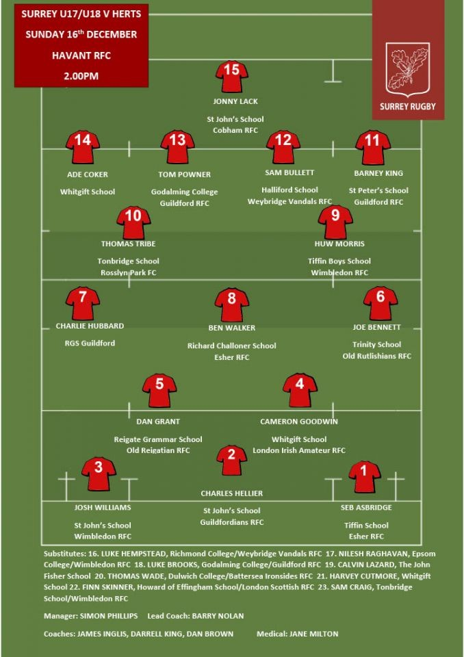 2018.12.16-TEAM-SHEET-U18-v-Hertfordshire