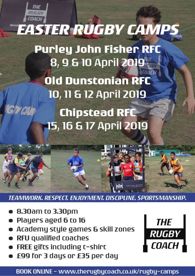 The Rugby Coach - Easter Rugby Camps