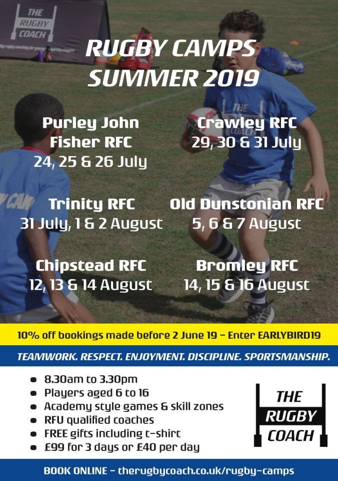 Summer Rugby Camps in Surrey with The Rugby Coach