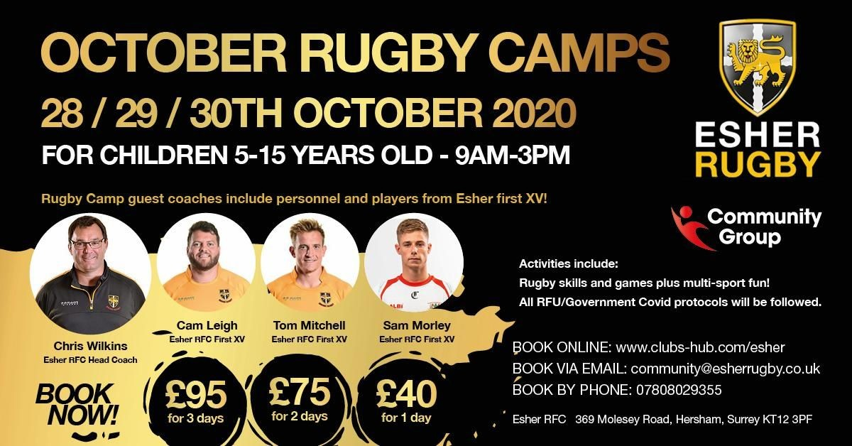 Half Term Rugby Camp at Esher RFC
