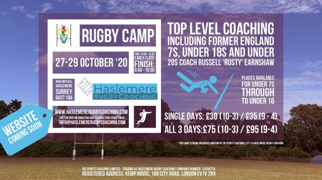 Half Term Camp at Haslemere RFC