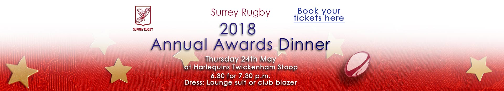 Surrey Rugby Awards Dinner 2018