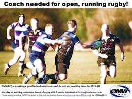 52f754b02523 VACANCY  Old Mid-Whigifitan RFC - Coach CLOSING DATE  29th August 2015.  CONTACT  Club Secretary